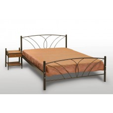 Ημίδιπλο Κρεβάτι Με Στρώμα, Έτοιμο - Κομπλέ 'Τήνος' 120x200cm OEM