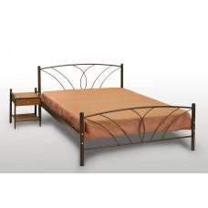 Κρεβάτι Διπλό Με Τάβλες και Με Στρώμα 'Τήνος' 140x190εκ