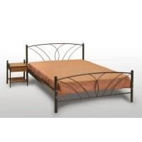Κρεβάτι Διπλό Με Τάβλες και Με Στρώμα 'Τήνος' 160x210εκ