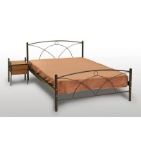 Κρεβάτι Μονό Με Τάβλες και Με Στρώμα 'Νάξος' 90x190εκ