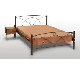 Κρεβάτι Ημίδιπλο Με Τάβλες και Με Στρώμα 'Νάξος' 120x200εκ