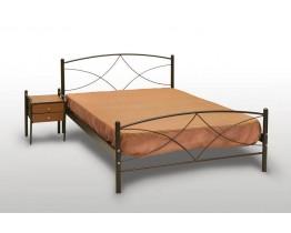 Κρεβάτι Μονό Με Τάβλες και Με Στρώμα 'Άνδρος' 100x200εκ