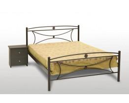 Κρεβάτι Διπλό Με Τάβλες και Με Στρώμα 'Μαργαρίτα' 150x200εκ