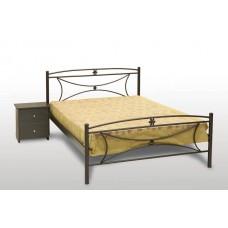 Διπλό Κρεβάτι Με Στρώμα, Έτοιμο - Κομπλέ 'Μαργαρίτα' 160x210εκ OEM