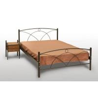 Κρεβάτι Διπλό Με Τάβλες και Με Στρώμα 'Νάξος' 140x190εκ