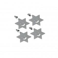 Πιάστρα - Βαρίδι Σετ 4 Για Τραπεζομάντηλο Ανοξείδωτη Ψαράκι Metaltex 254511