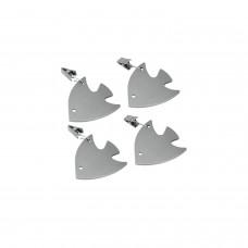 Πιάστρα - Βαρίδι Σετ 4 Για Τραπεζομάντηλο Ανοξείδωτη Αστεράκι Metaltex 254511