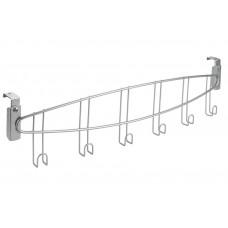 Κρεμάστρα Τοίχου - Πόρτας 6 Θέσεων 55x4x11υψ Onda Polytherm Metaltex 460600