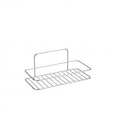 Εταζέρα Μπάνιου Ορθογώνια Μονή Χρωμίου 26x13x11υψ Reflex Metaltex 404009