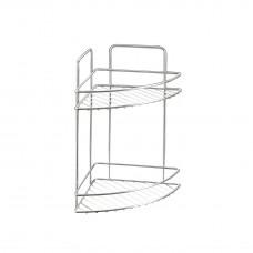 Εταζέρα Μπάνιου Γωνία Διπλή Χρωμίου 21x21x35υψ Reflex Metaltex 404013