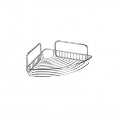 Εταζέρα Μπάνιου Γωνία Μονή Χρωμίου 20x20x8υψ Mallorca Metaltex 404510