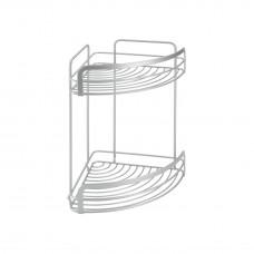 Εταζέρα Μπάνιου Γωνία Διπλή 20x20x30υψ Viva Polytherm Metaltex 404816