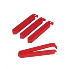 Κλιπ Πλαστικά Για Σακούλες 4Τεμ Κόκκινο 10εκ Metaltex 295610