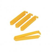 Κλιπ Πλαστικά Για Σακούλες 4Τεμ Κίτρινο 10εκ Metaltex 295610