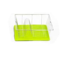 Πιατοθήκη - Στεγνωτήρι Πιάτων Με Δίσκο Λευκό-Λαχανί 36x33x12υψ Piccolo Metaltex 320240