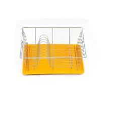 Πιατοθήκη - Στεγνωτήρι Πιάτων Με Δίσκο Λευκό-Κίτρινο 36x33x12υψ Piccolo Metaltex 320240