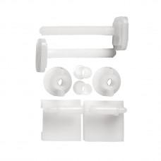 Ανταλλακτικές Βίδες Για Καπάκι Τουαλέτας Πλαστικές Λευκές Eliplast 780-1