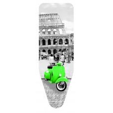 Σιδερόπανο Με Σχοινάκι Και Κλίπ Ενισχυμένο Βαμβάκι Molleton Rome City 55x140εκ Colombo 5310