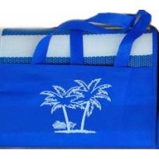Ψάθα Παραλίας Πλαστική Με Μαξιλαράκι Μονή 90x180εκ 688753 - Μπλε