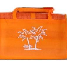 Ψάθα Παραλίας Πλαστική Με Μαξιλαράκι Μονή 90x180εκ 688753 - Πορτοκαλί