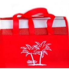 Ψάθα Παραλίας Πλαστική Με Μαξιλαράκι Μονή 90x180εκ 688753 - Κόκκινο