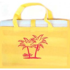 Ψάθα Παραλίας Πλαστική Με Μαξιλαράκι Μονή 90x180εκ 688753 - Κίτρινο
