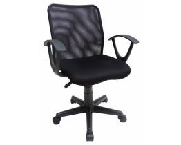 Καρέκλα Γραφείου Μαύρη OEM 745135 Κάθισμα 44x44εκ. Ύψος 79-91εκ.