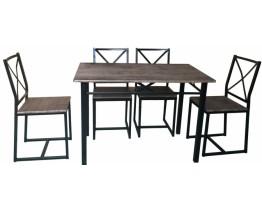 Σετ Τραπέζι Με 4 Καρέκλες OEM 766178 Τραπεζιού 70x110x75υψ. Καρέκλας 38x44x86υψ.