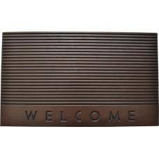 Πατάκι Εξώπορτας Καουτσούκ Καφε Welcome 761227 75x45εκ