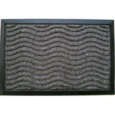Πατάκι Εξώπορτας Καουτσούκ - Μοκέτα Γκρι Ανάγλυφα Κύματα 761302 60x40εκ