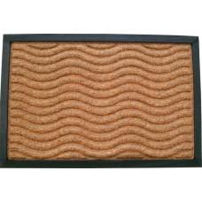 Πατάκι Εξώπορτας Καουτσούκ - Μοκέτα Καφέ Ανάγλυφα Κύματα 761326 60x40εκ