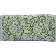 Σιδερόπανο Με Κορδόνι 100% Βαμβάκι 50x140εκ Πράσινοι Κύκλοι 764822 ΟΕΜ