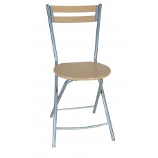 Καρέκλα Κουζινας Μεταλλική Με Ξύλο Πτυσσόμενη 758395 36x36x80υψ.