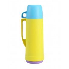 Θερμός Πλαστικό Mε Γυάλινη Εσωτερική Επένδυση 450ml 767489 ANKOR - Κίτρινο