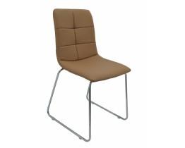 Καρέκλα Δερματίνη Σε Μπεζ Καμηλό Χρώμα Και Μεταλλικά Πόδια OEM 767243 42x50x83υψ