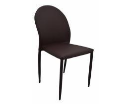 Καρέκλα Δερματίνη Σε Σκούρο Καφέ Χρώμα OEM 767298 44x49x86υψ
