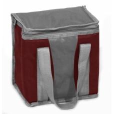 Ισοθερμική Τσάντα Μικρή 5lt OEM 767113 21x15x21υψ - Σκούρο ΚόκκινοΓκρι