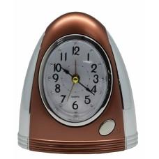 Ξυπνητήρι Πλαστικό Ασημί - Καφέ 772414 11x12υψ Ankor
