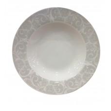 Πιάτο Πορσελάνης Βαθύ Στρογγυλό Γκρι Λαχούρι R8028-085 Φ21,5εκ Ankor