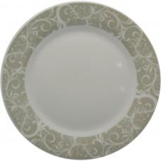 Πιάτο Πορσελάνης Φρούτου Στρογγυλό Γκρι Λαχούρι R8028-075 Φ19εκ Ankor