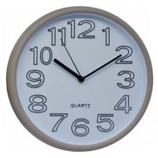 Ρολόι Τοίχου Πλαστικό, Στρογγυλό, Σωμόν-Άσπρο, 30εκ, 775224