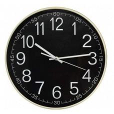 Ρολόι Τοίχου Πλαστικό, Στρογγυλό, Μπεζ-Μαύρο, 30εκ, 775262