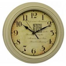 Ρολόι Τοίχου Πλαστικό, Στρογγυλό, Μπέζ, 30εκ, 775279