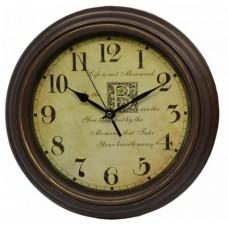 Ρολόι Τοίχου Πλαστικό, Στρογγυλό, Καφέ Μπρονζέ-Μπέζ, 30εκ, 775279
