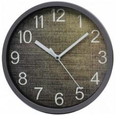 Ρολόι Τοίχου Πλαστικό, Στρογγυλό, Γκρι, 20εκ, 775286