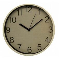 Ρολόι Τοίχου Πλαστικό, Στρογγυλό, Μπεζ, 25εκ, 775293