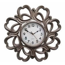 Ρολόι Τοίχου Πλαστικό, Αντικέ Γκρι, 61εκ, 774029
