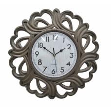 Ρολόι Τοίχου Πλαστικό, Αντικέ Μπεζ, 36εκ, 774043