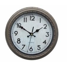 Ρολόι Τοίχου Πλαστικό, Αντικέ Γκρι-Μπεζ, 28εκ, 774128