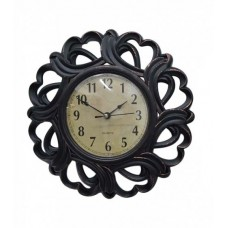 Ρολόι Τοίχου Πλαστικό, Αντικέ Καφέ, 25εκ, 774159
